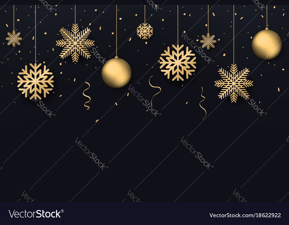 Christmas and new year background golden