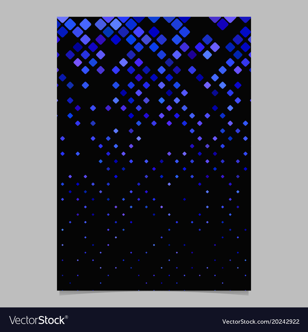 Geometrical pattern flyer design - tiled mosaic vector image
