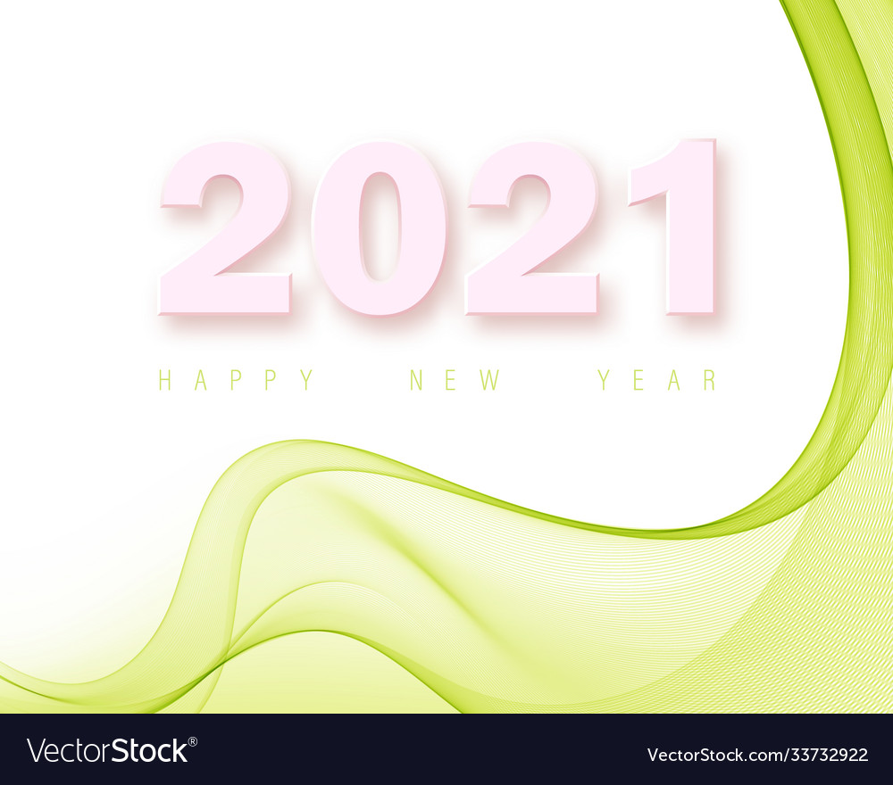Green abstract poster background new year 2021