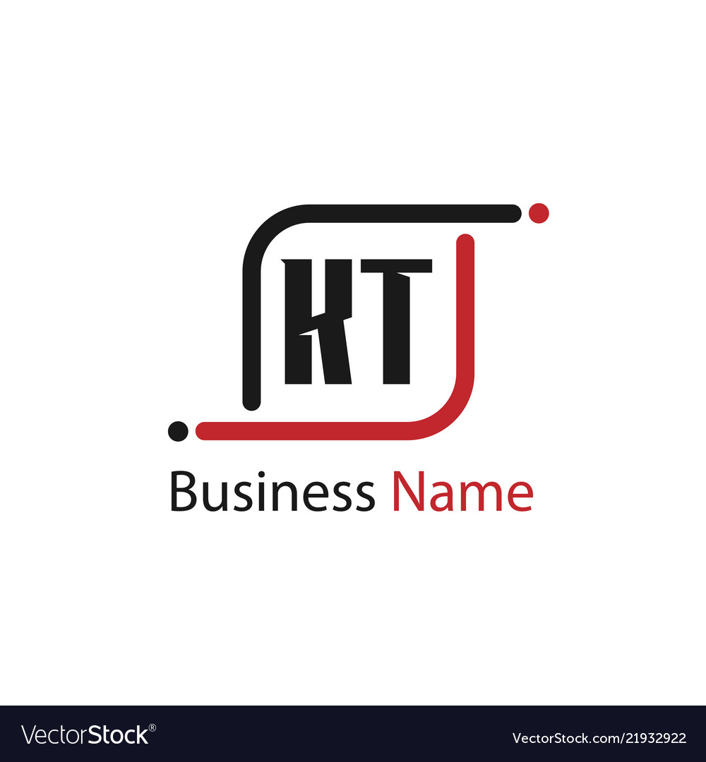 Initial letter kt logo template design