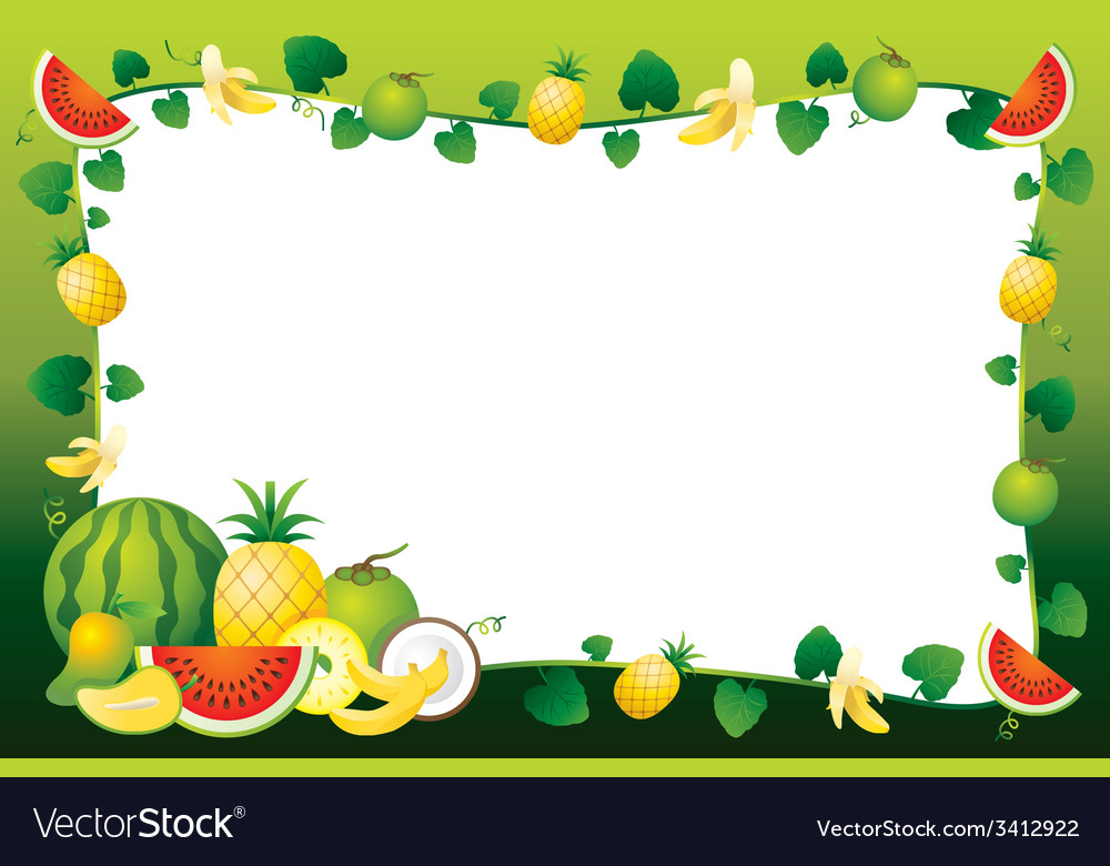 Mixed Fruits Border Frame