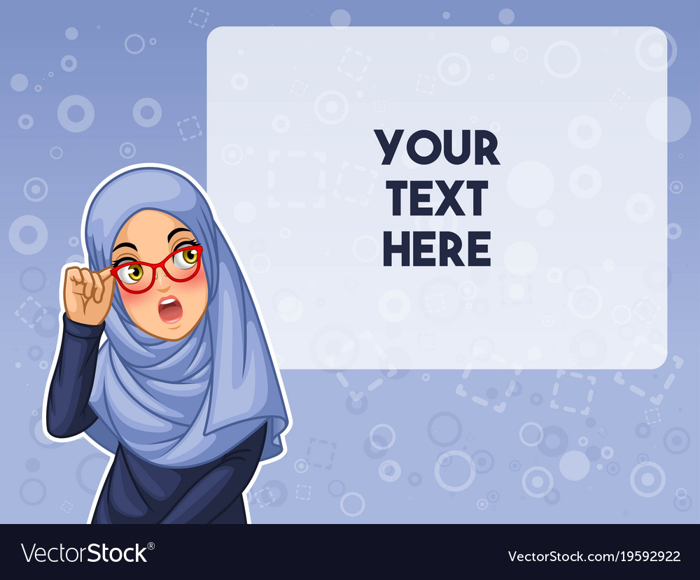 Muslim woman shocked with holding her glasses