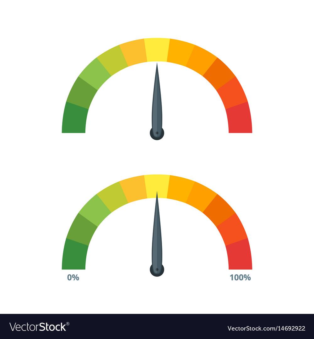 Speed metering icons vector image