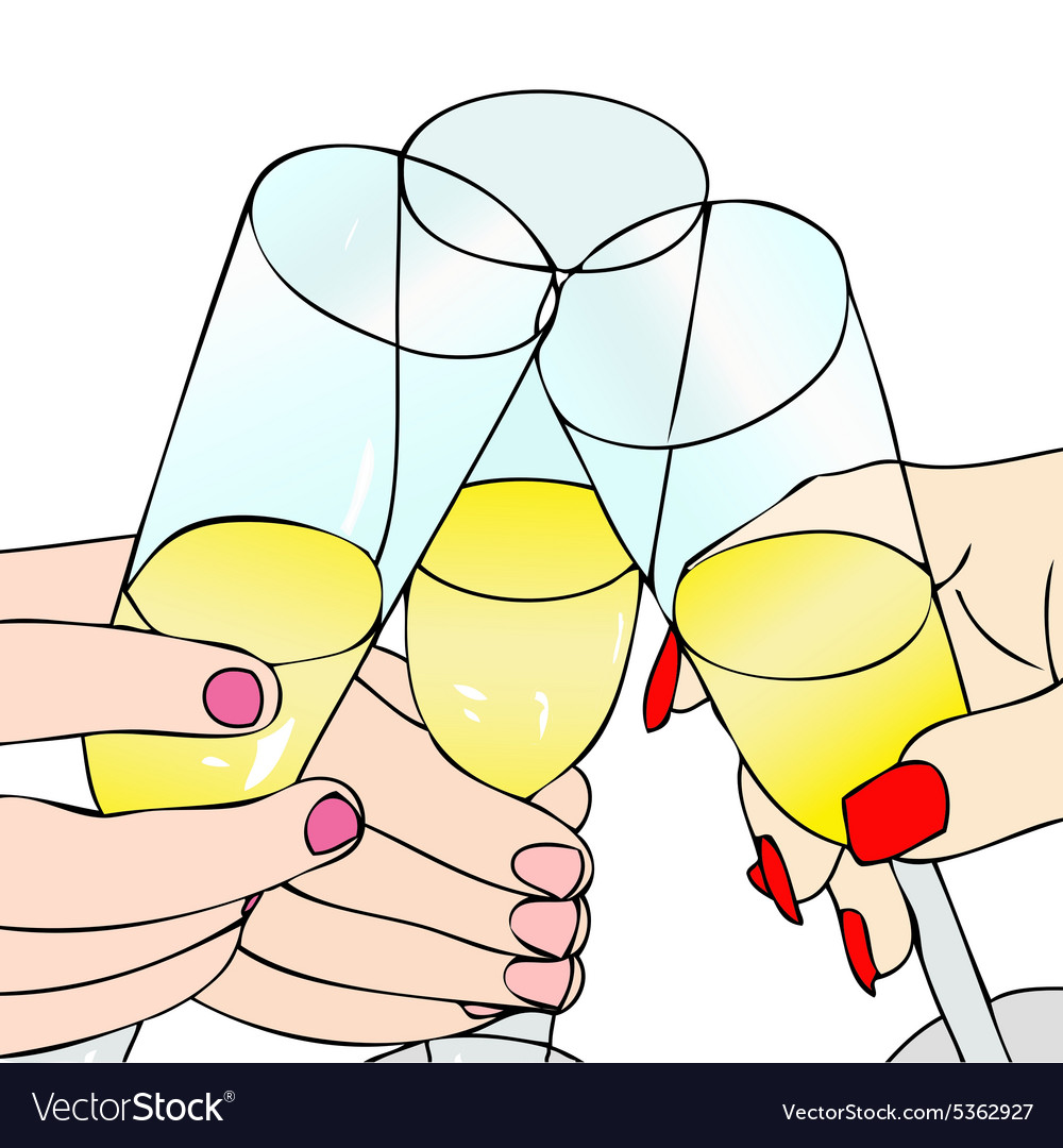 A Toast to celebrate vector image
