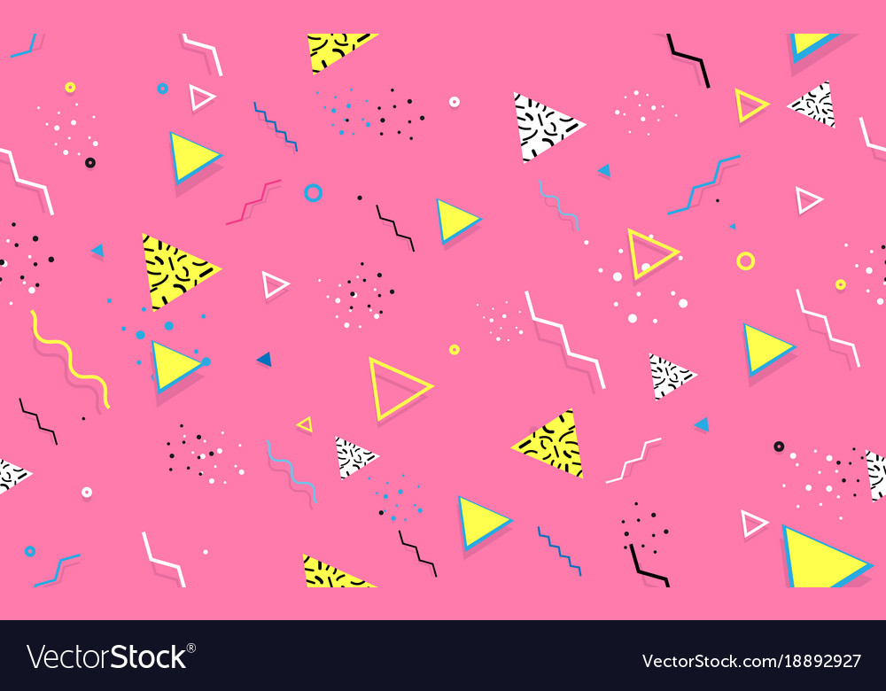 Abstract seamless trendy geometric line shapes
