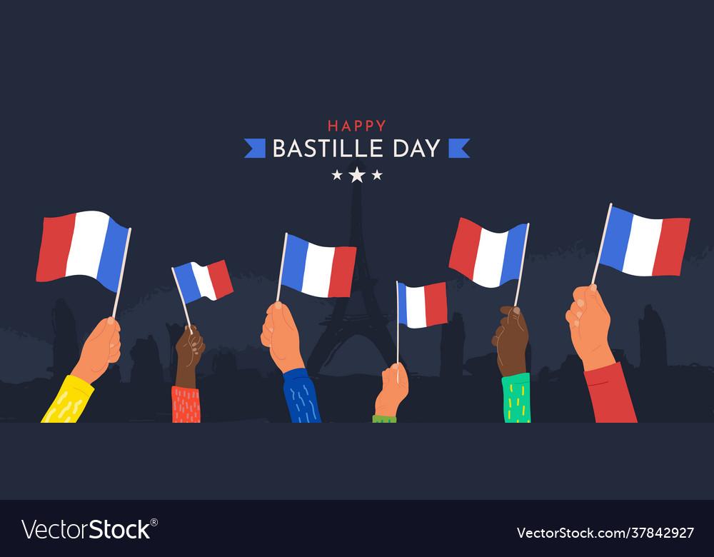 Celebration happy bastille day july 14th