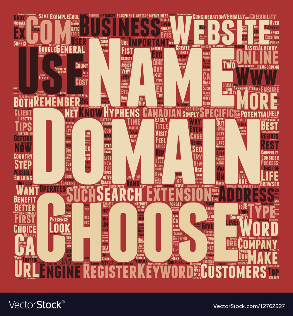 How To Choose A Domain Name For Your Business text