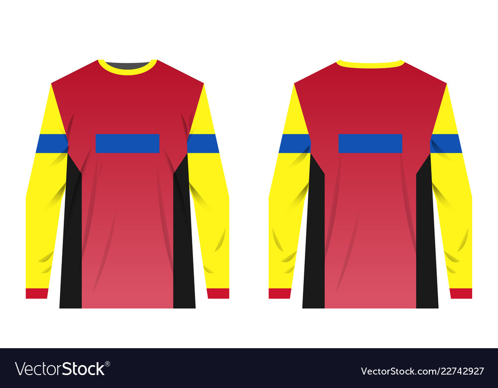 Jersey Design Templates Royalty Free Vector Image