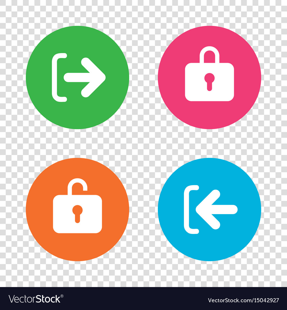 Login and logout icons sign in icon locker