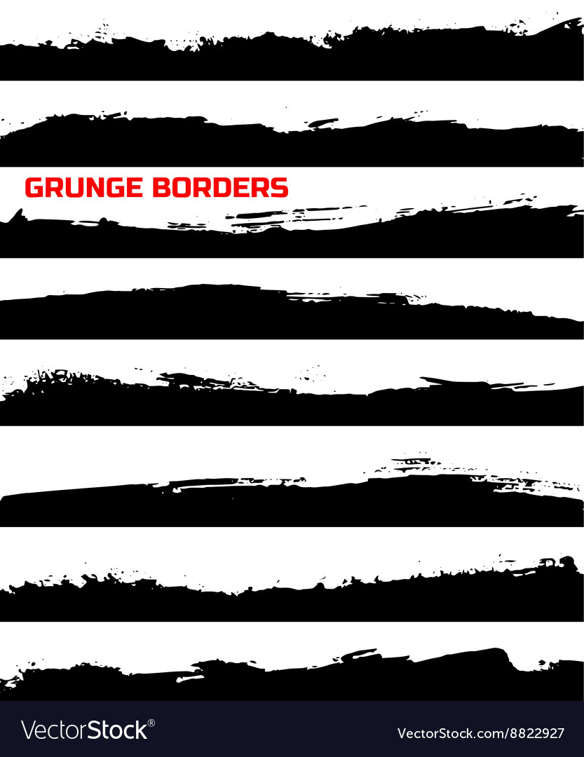 Set of grunge borders