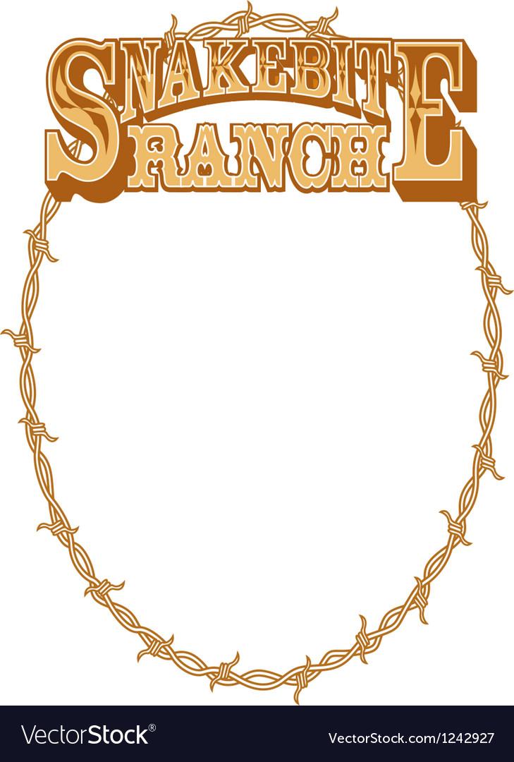 Snakebite ranch frame
