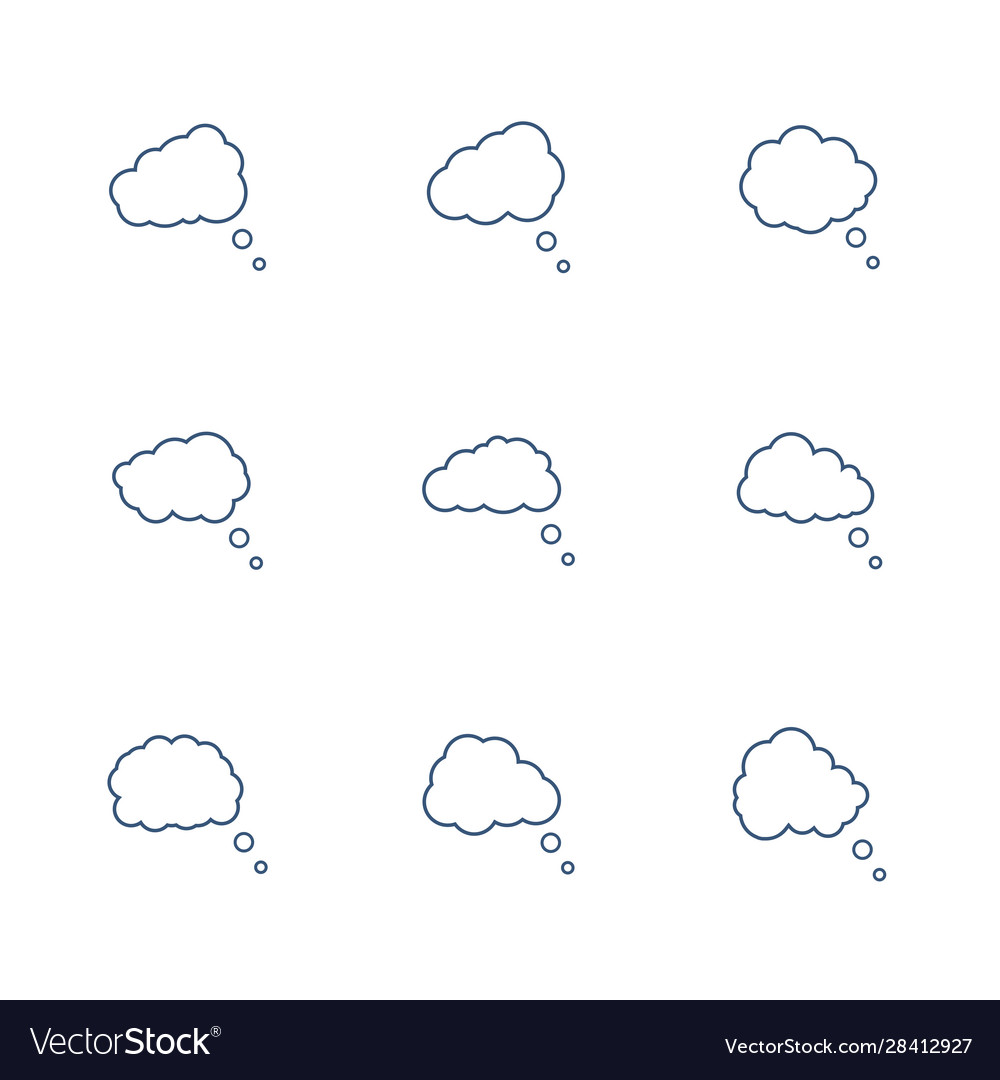 Speech bubbles icon set in line style