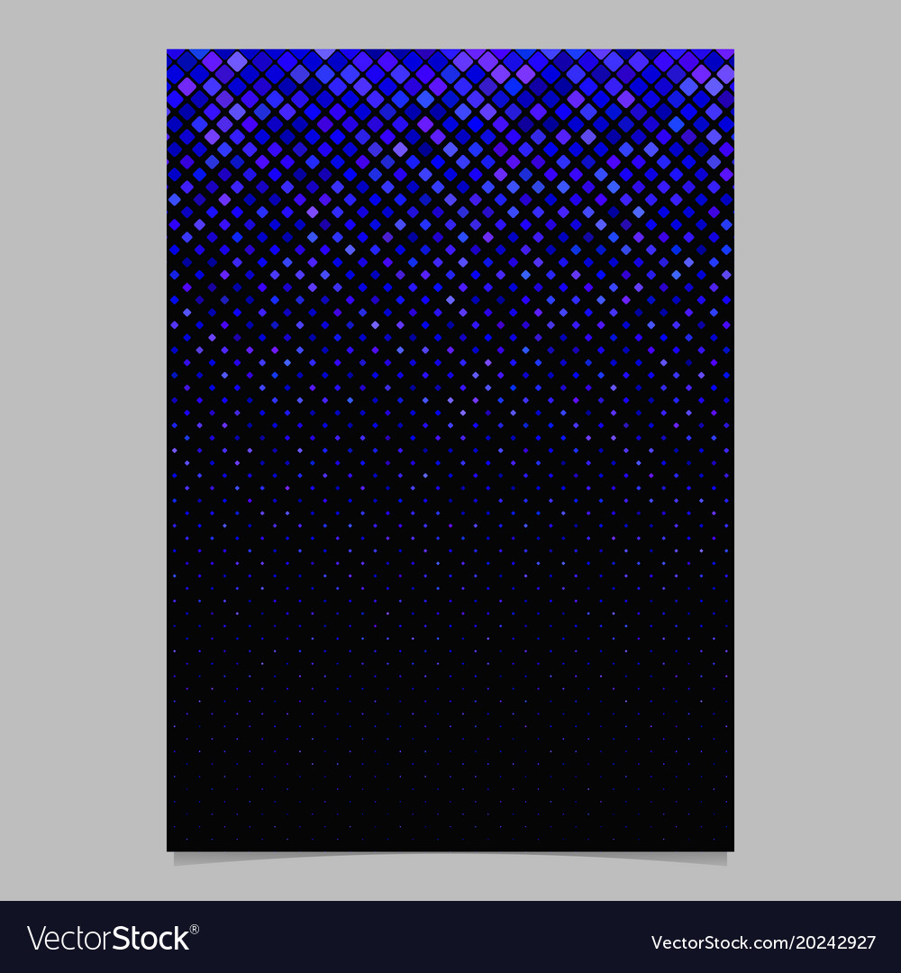 Square pattern brochure template - mosaic cover vector image