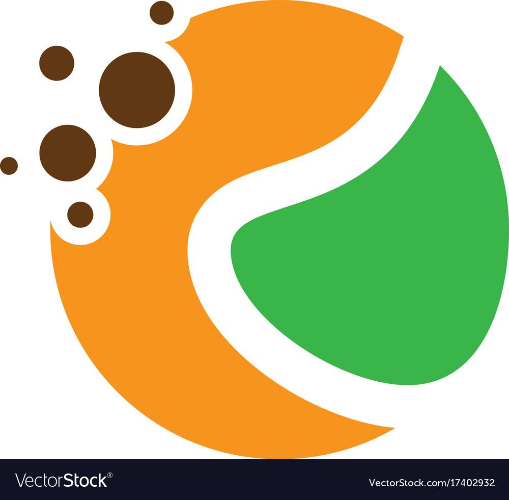 Abstract Circle Dot Eco Logo Royalty Free Vector Image