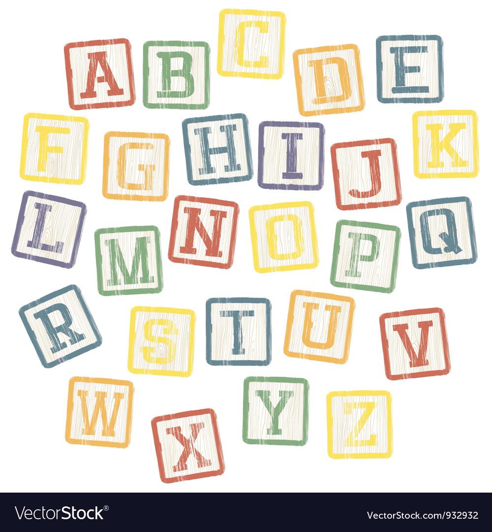 Baby blocks alphabet