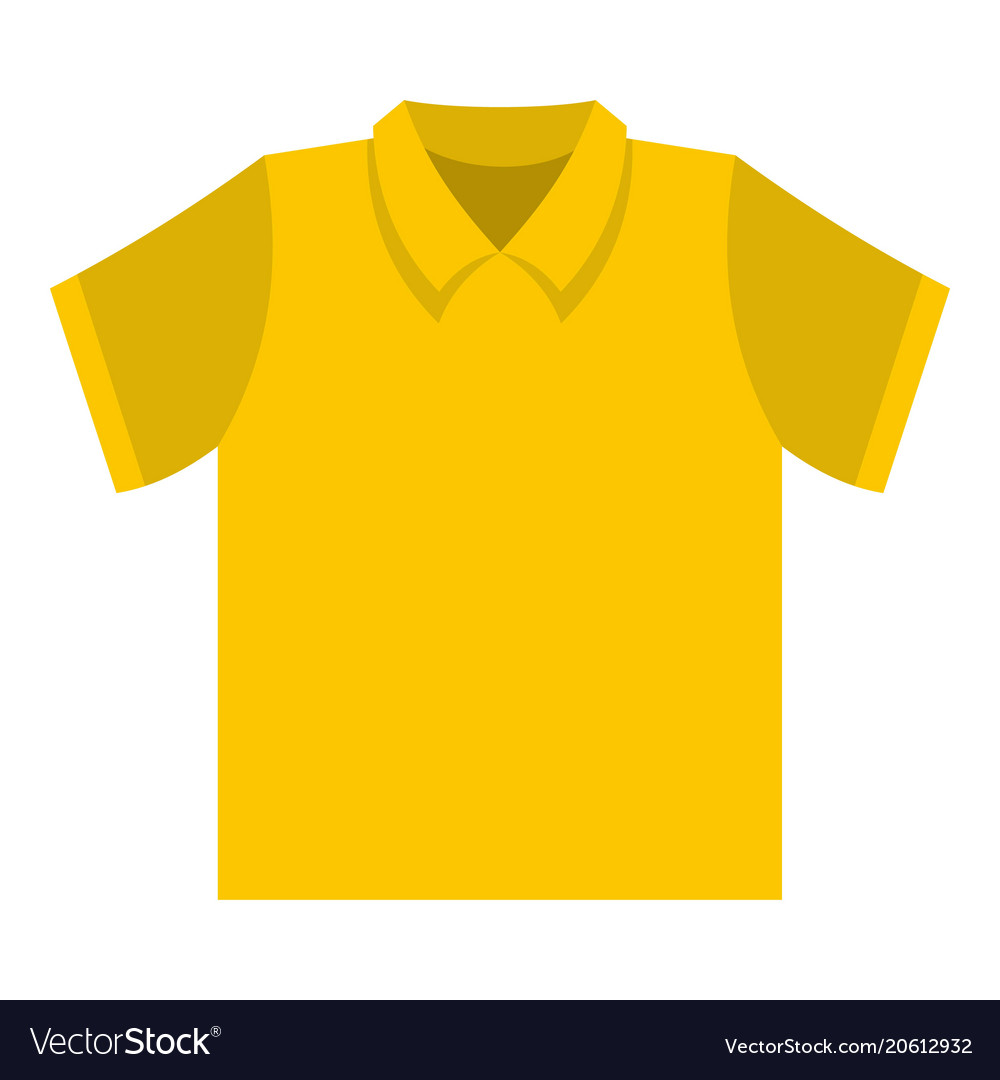 clean t shirt icon flat style royalty free vector image vectorstock