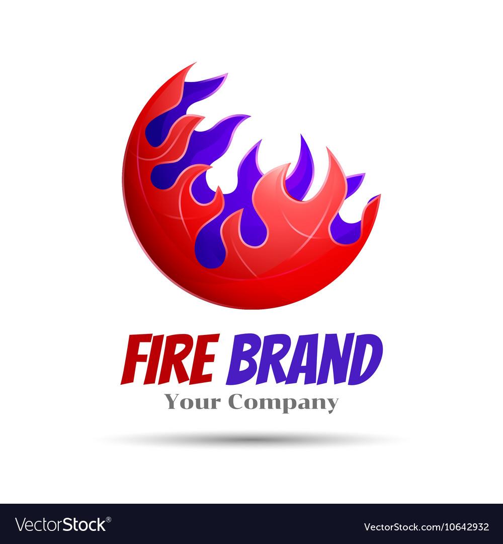 fireball logo template concept royalty free vector image
