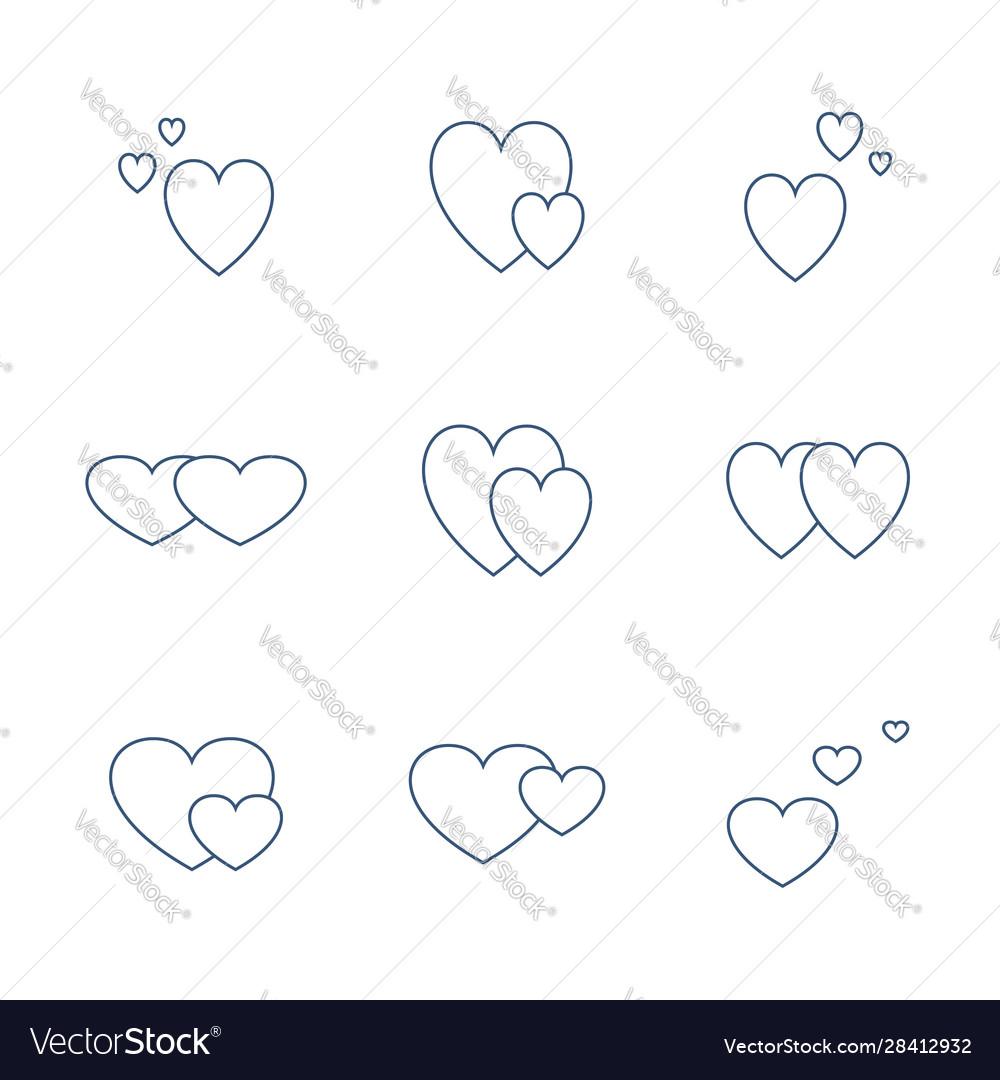 Icon set valentines day love sign