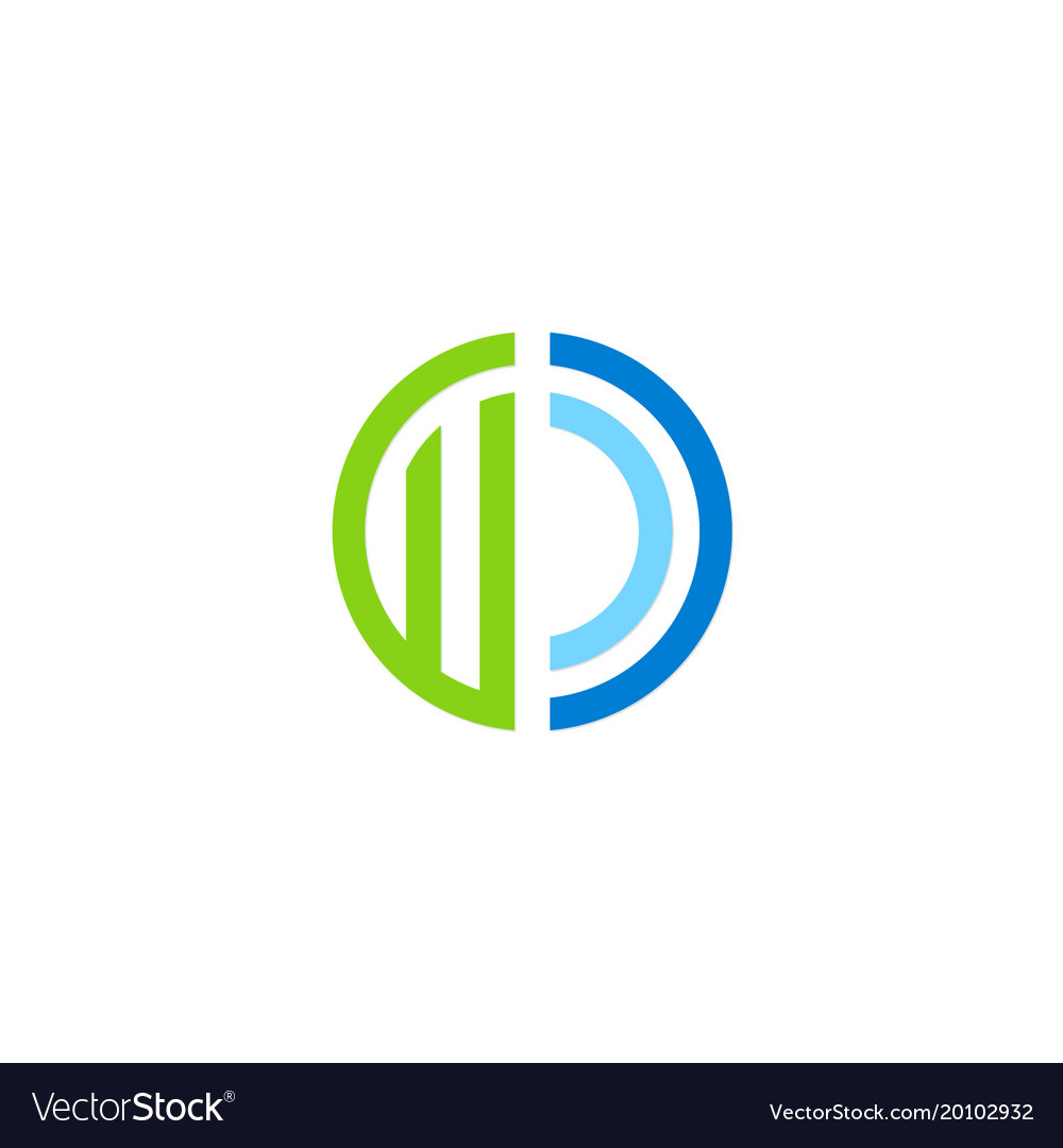 Round abstract colored company logo
