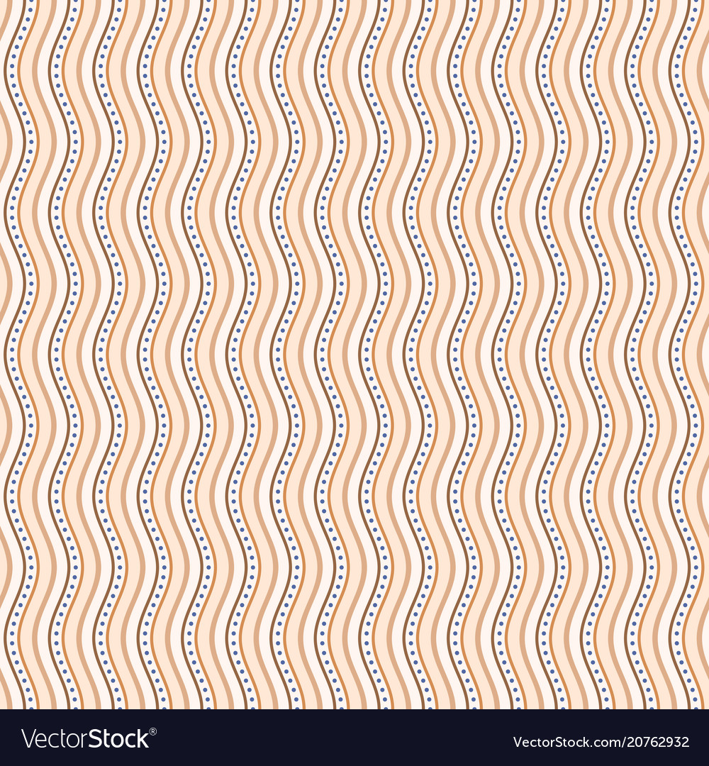 Seamless pattern with wavy stripes