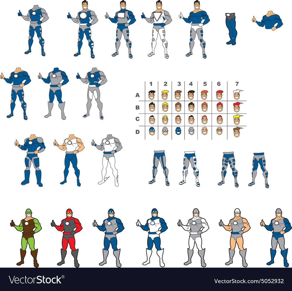 Super Hero Template Royalty Free Vector Image - VectorStock