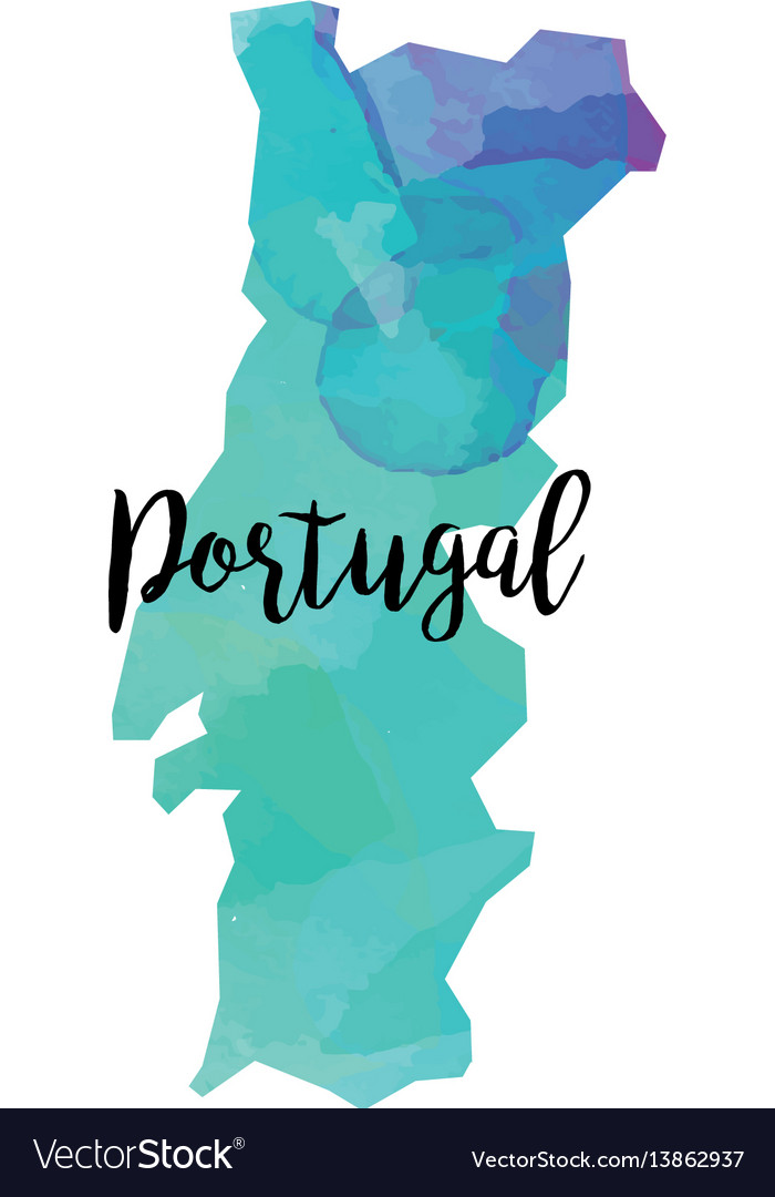 Abstract portugal map