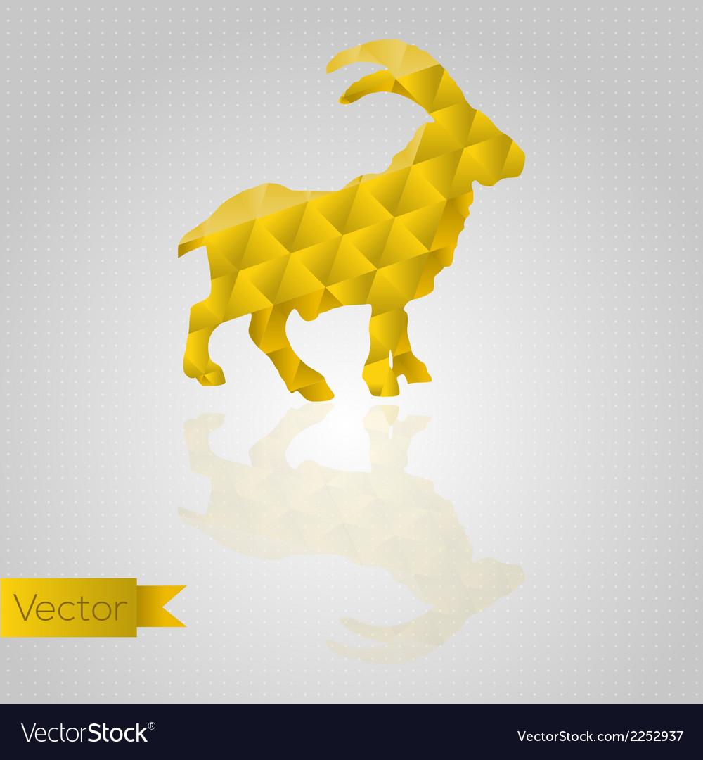 Abstract triangular goat