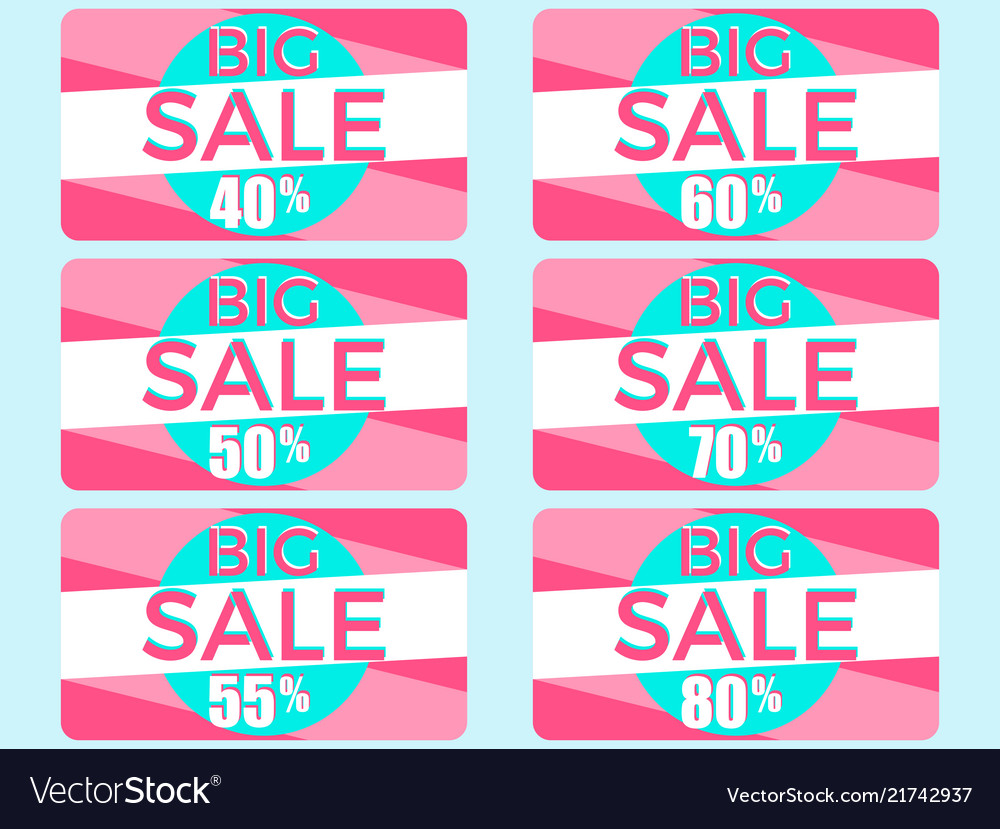 Big sale set of gift cards at a discount shopping