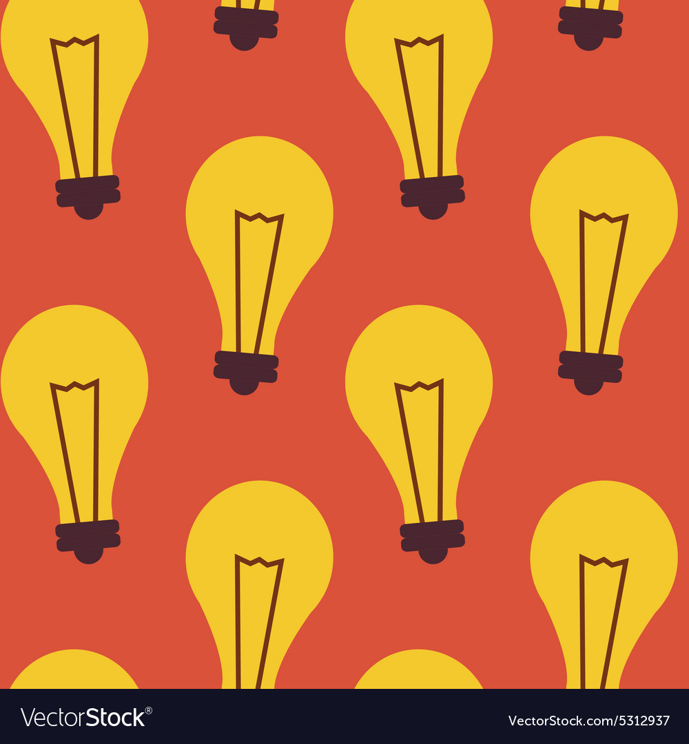 Flat Seamless Pattern Business Idea Lamp