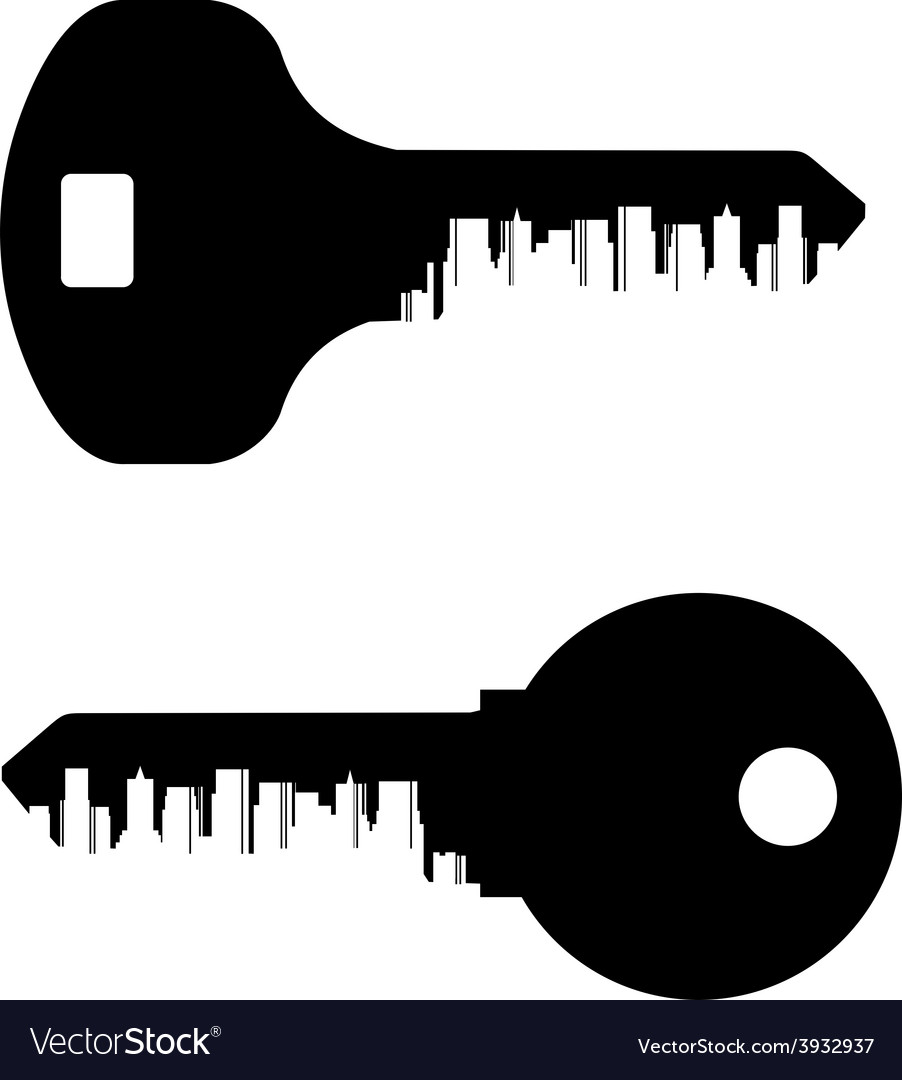Key logo design template City or town icon
