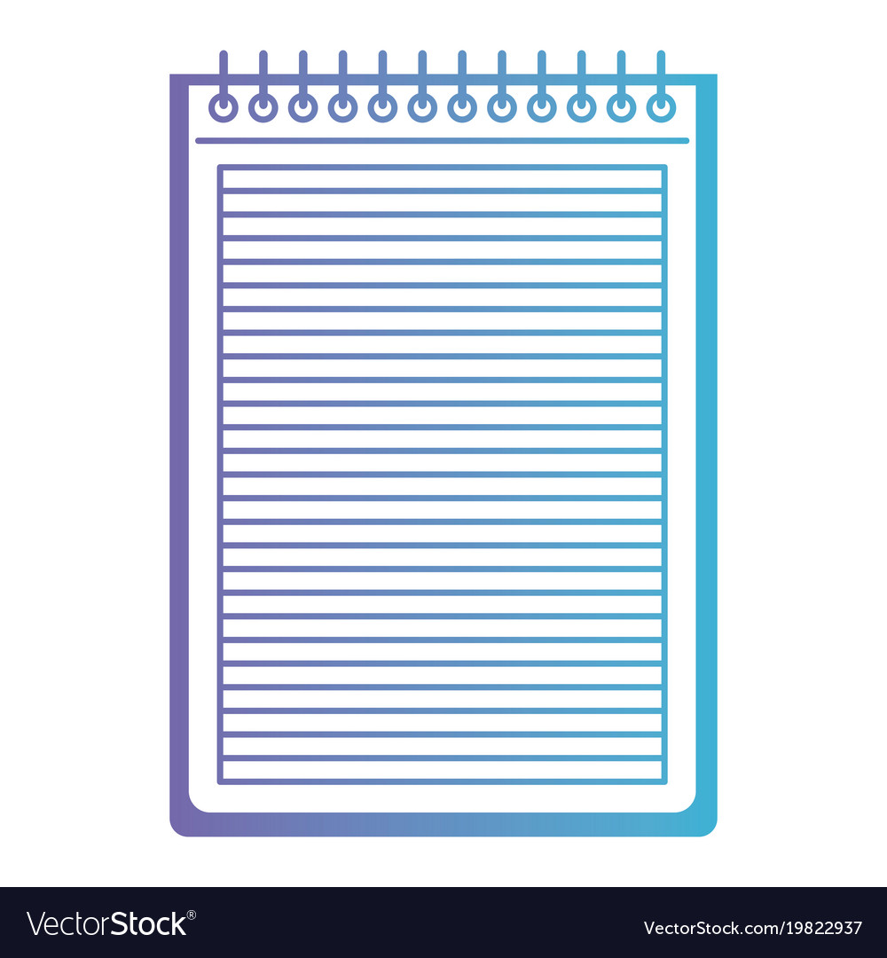 notebook with horizontal lines and metal spiral on