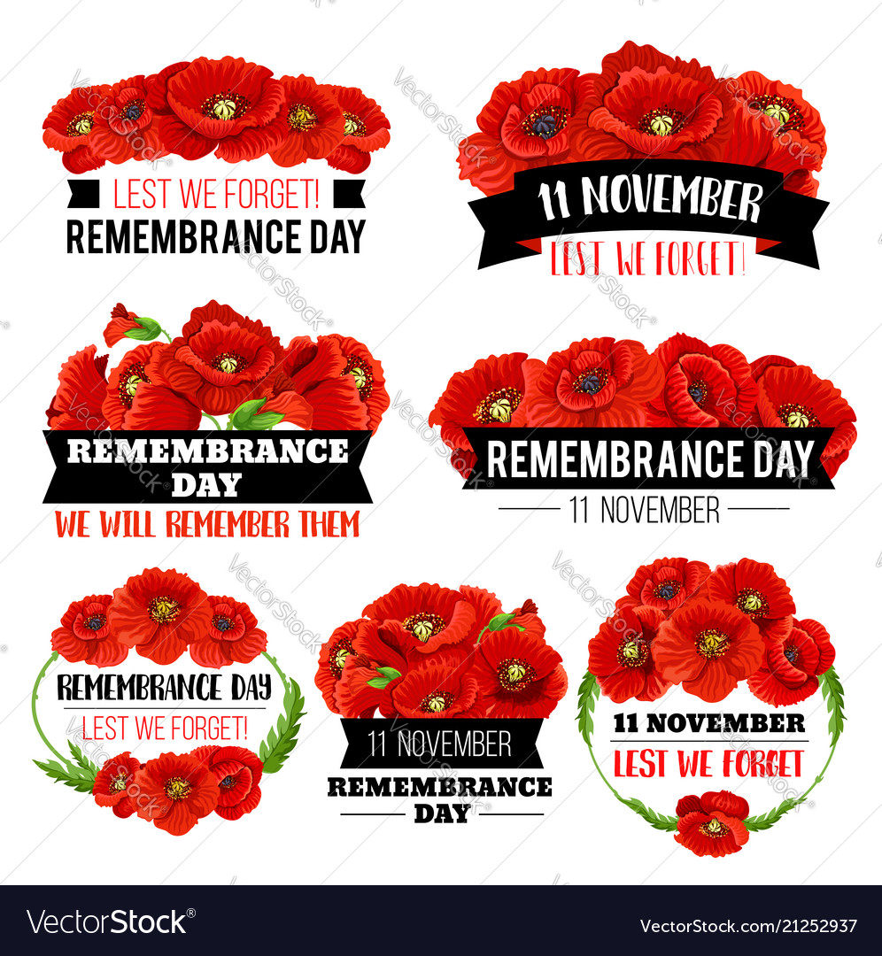 Red poppy flower symbol for remembrance day design red poppy flower symbol for remembrance day design vector image mightylinksfo