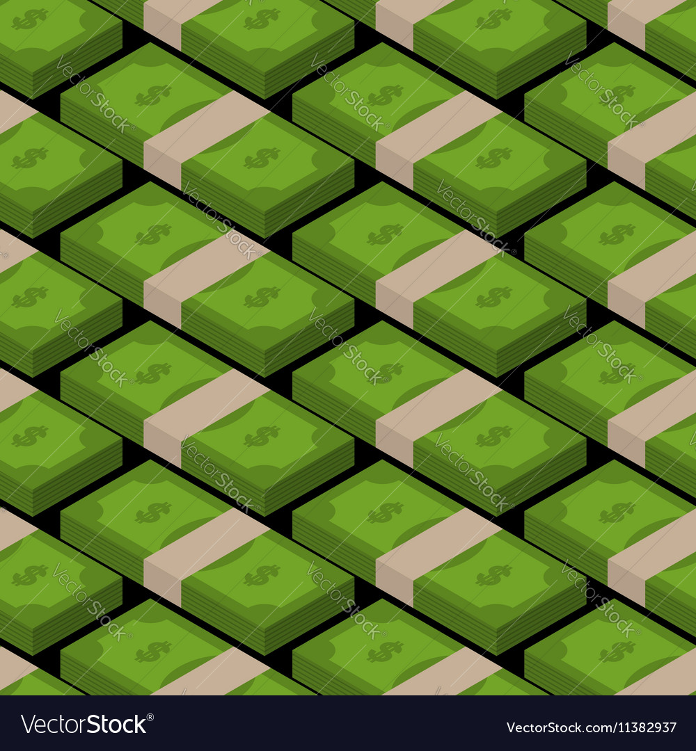 Stack of money seamless pattern Cash background