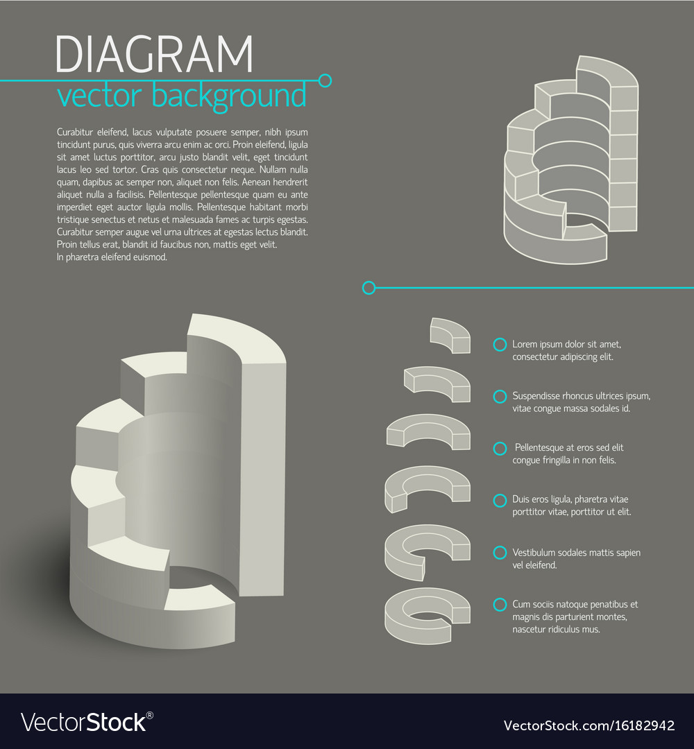 Business gray diagram infographic