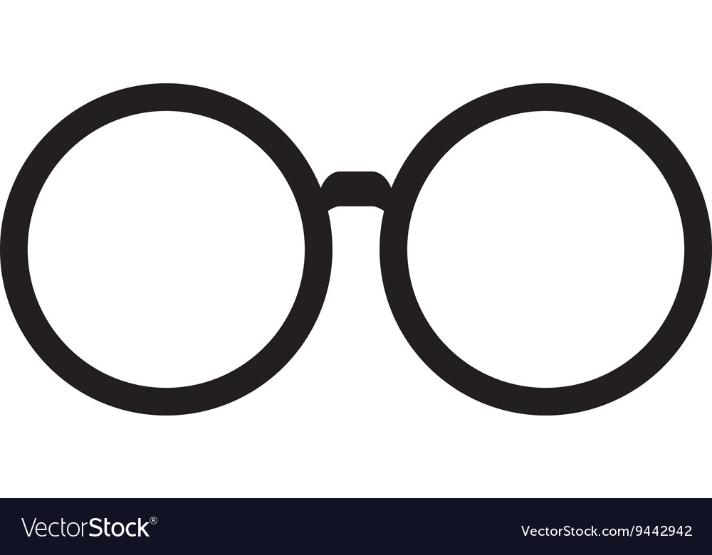 classic round glasses royalty free vector image rh vectorstock com glasses factory preston glasses factory uk
