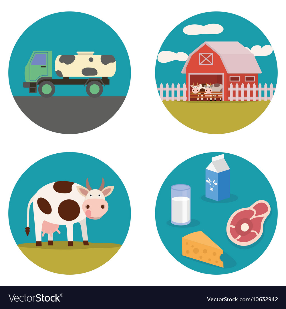 Dairy products flat