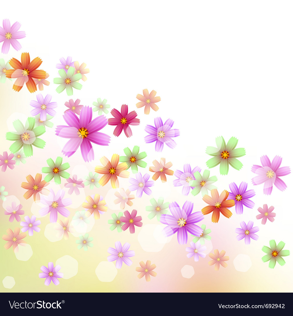 Floral Border Wallpaper Royalty Free Vector Image