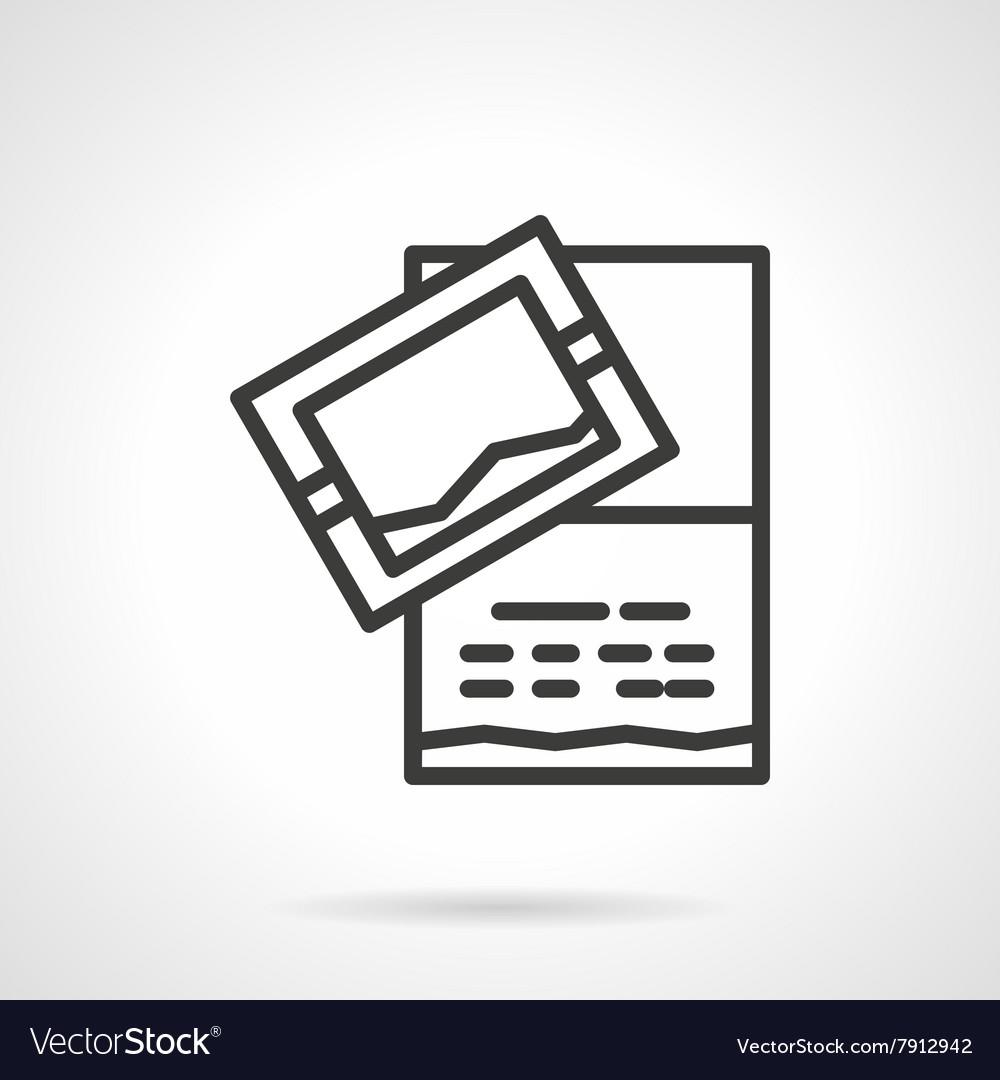 Invitation card icon black line design icon
