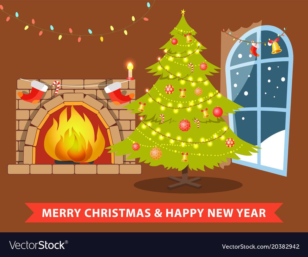 Merry christmas and room
