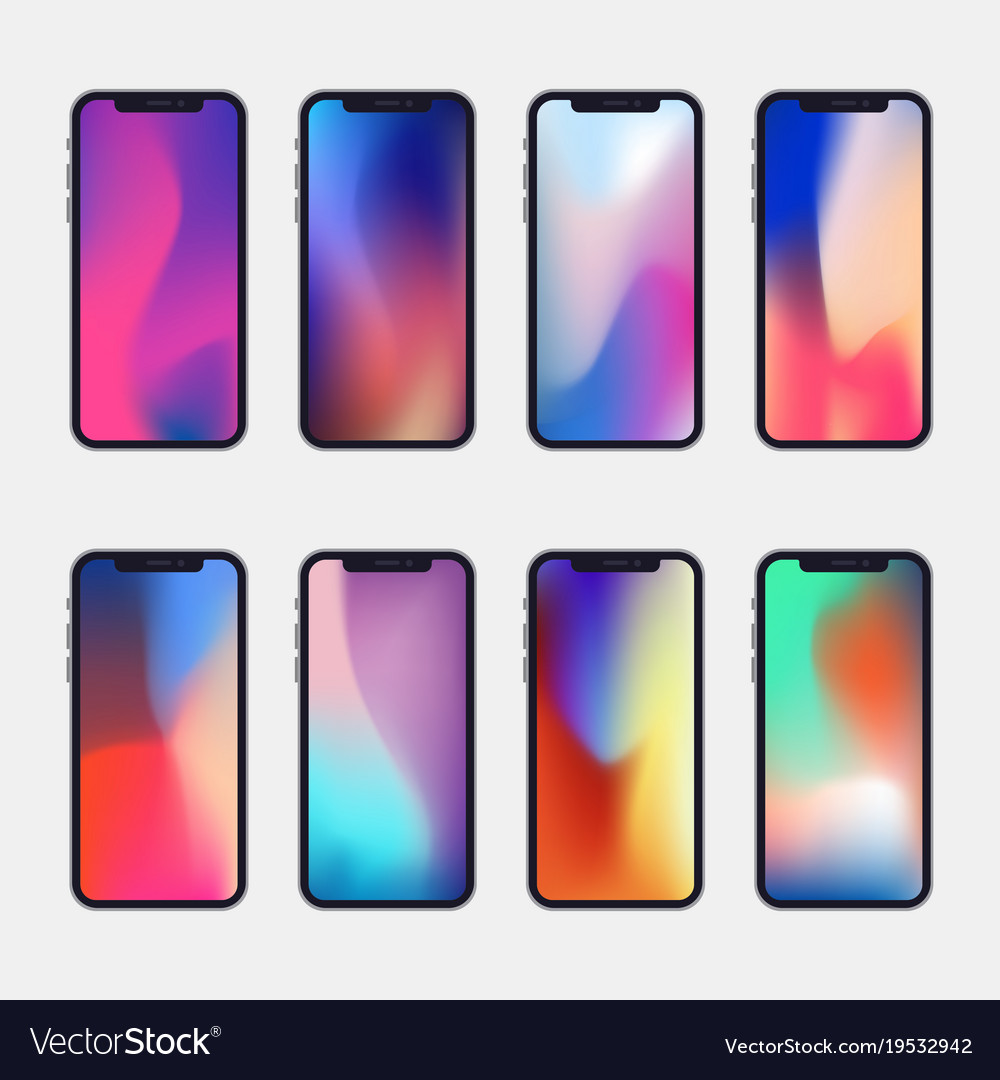 New generation phone with 8 modern wallpapers