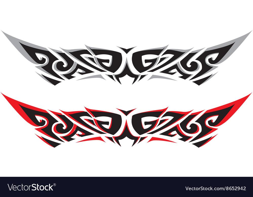 Tattoo W A three vector image