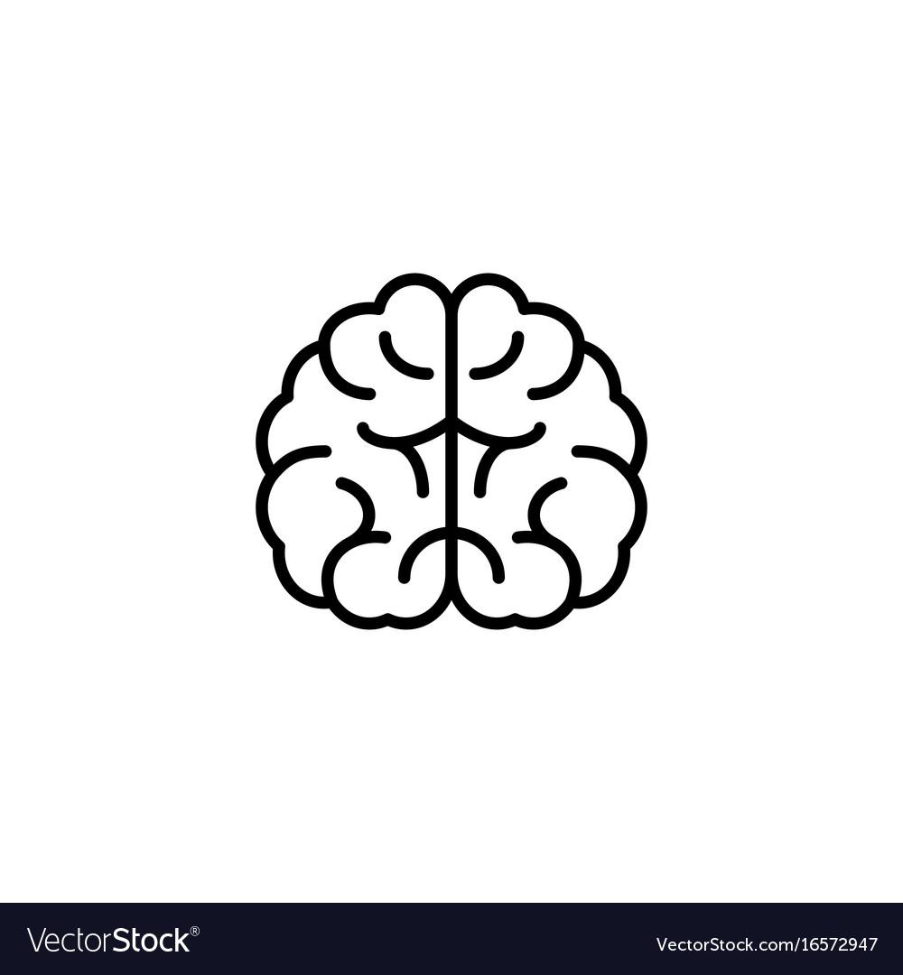 Brain icon on white background