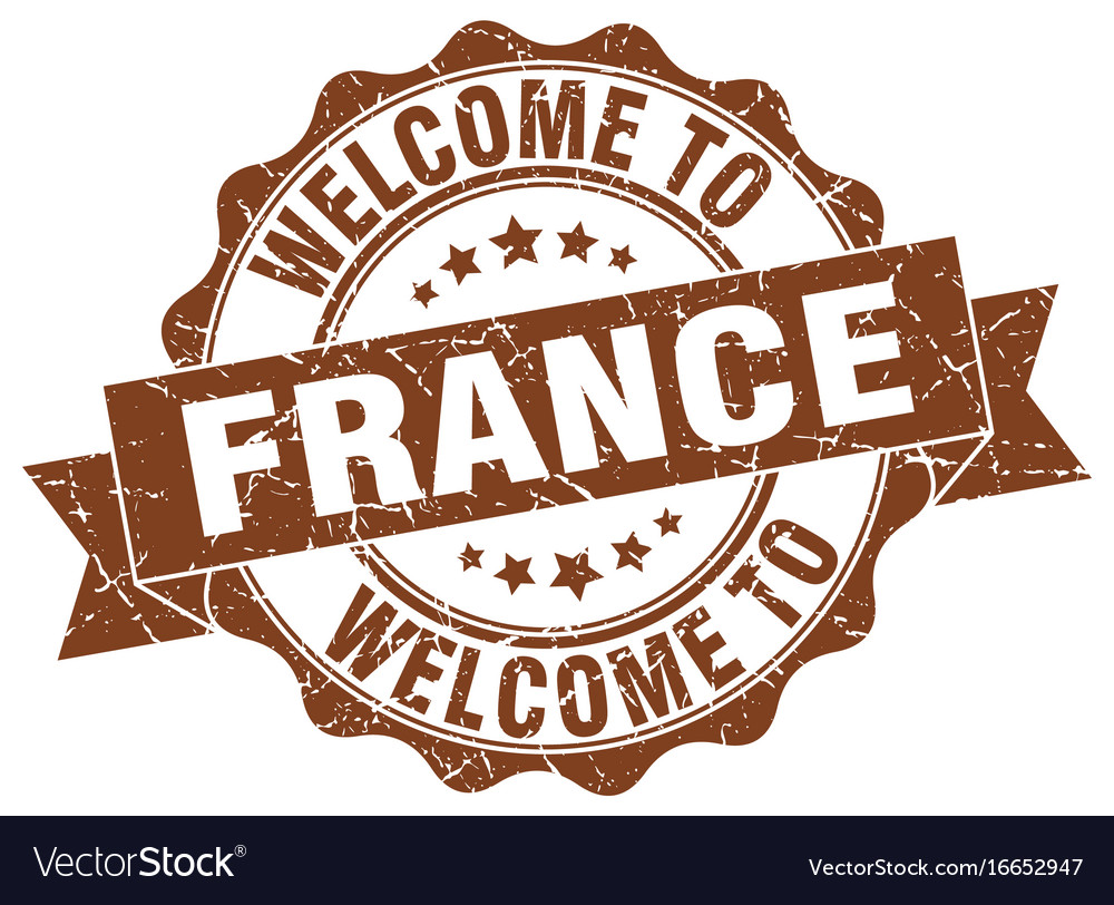 France round ribbon seal vector image