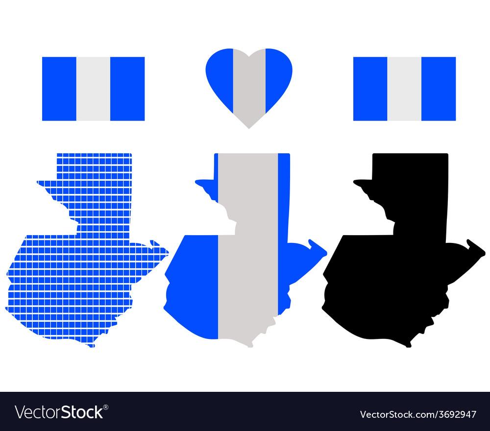 Guatemala map vector image