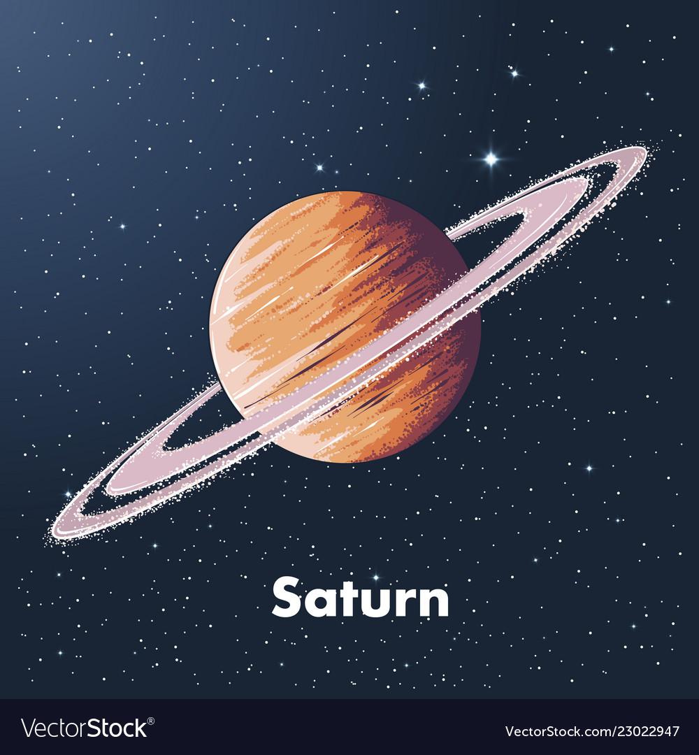 Saturn Planet Sketch | www.topsimages.com
