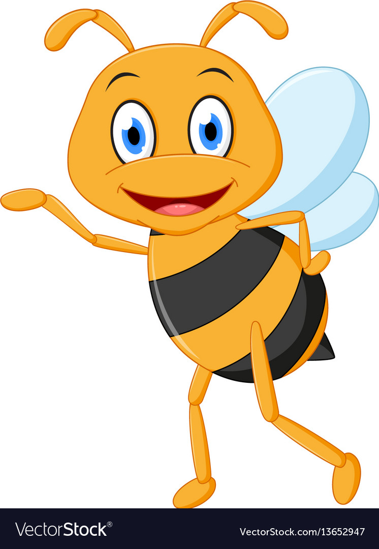 Little bee cartoon presenting