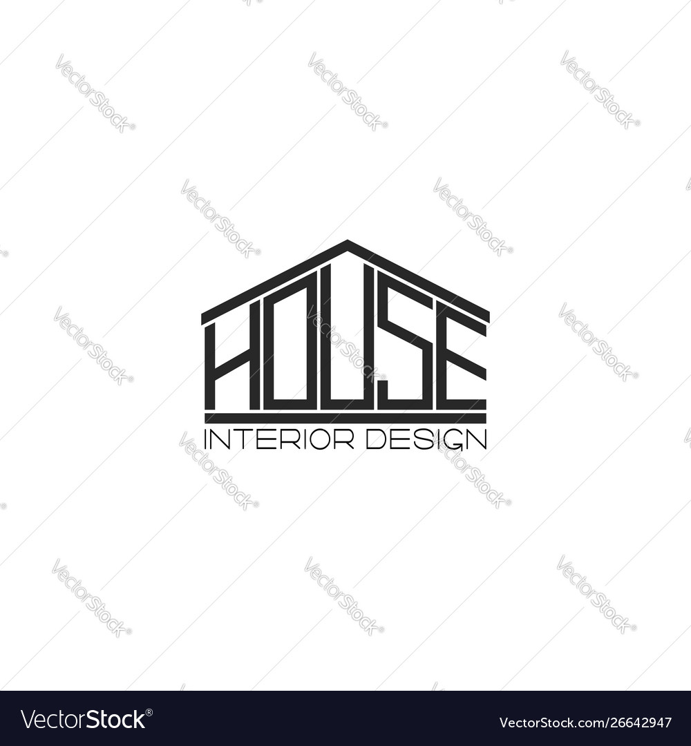 Logo house lettering t-shirt print design element vector
