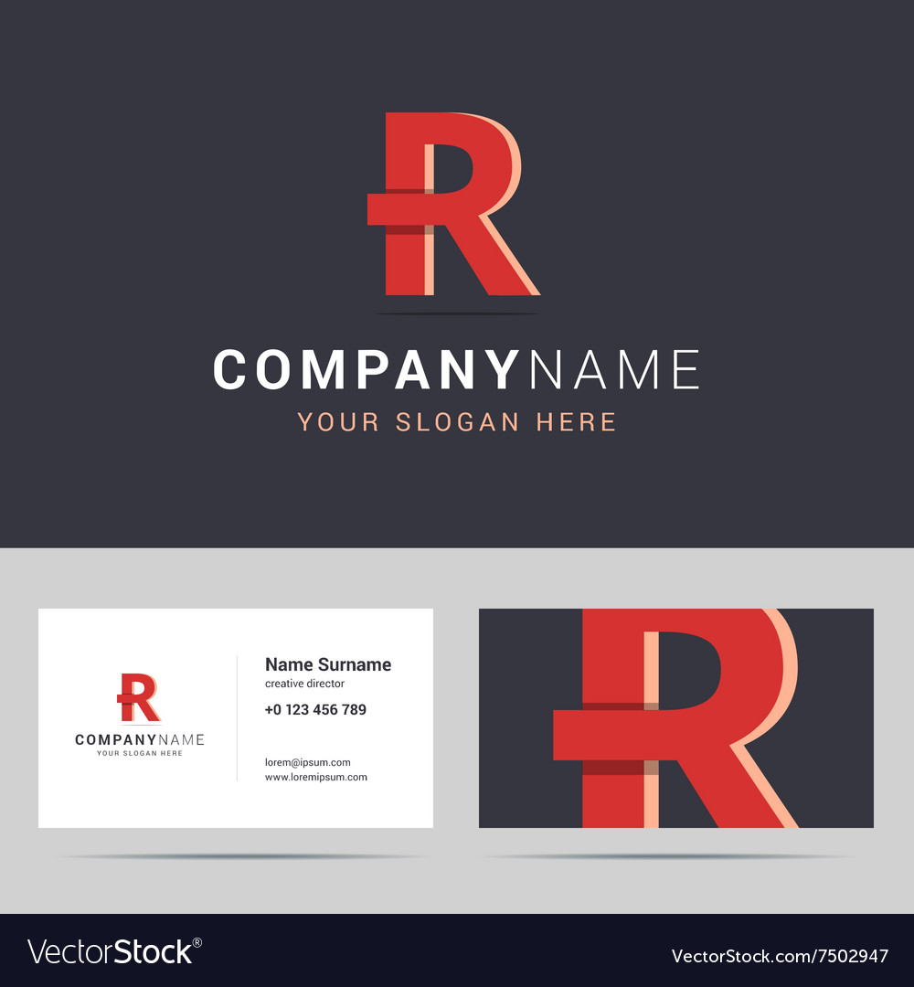Logotype logo template and business card template