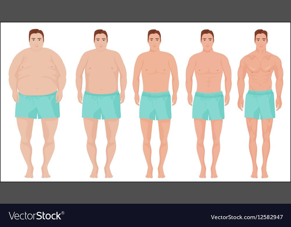 man slimming