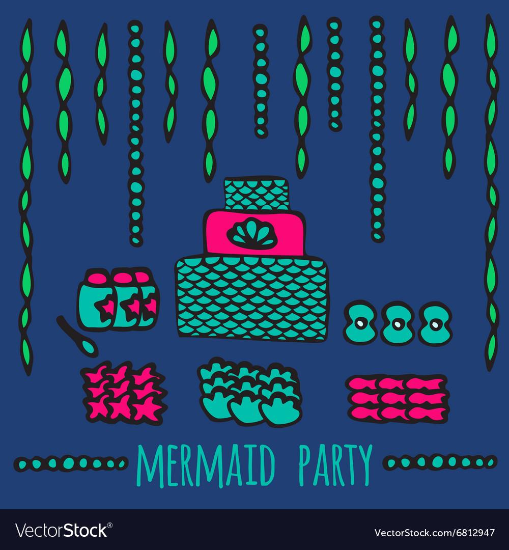 Mermaid party elements underwater kids party